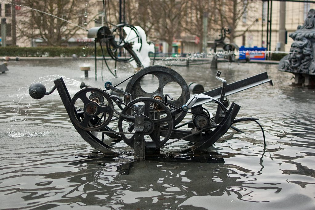 basel, Switzerland. tinguely fountain