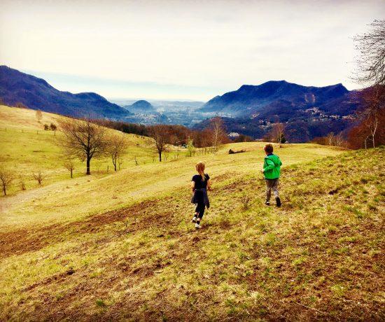 bambini all'alpe vicania