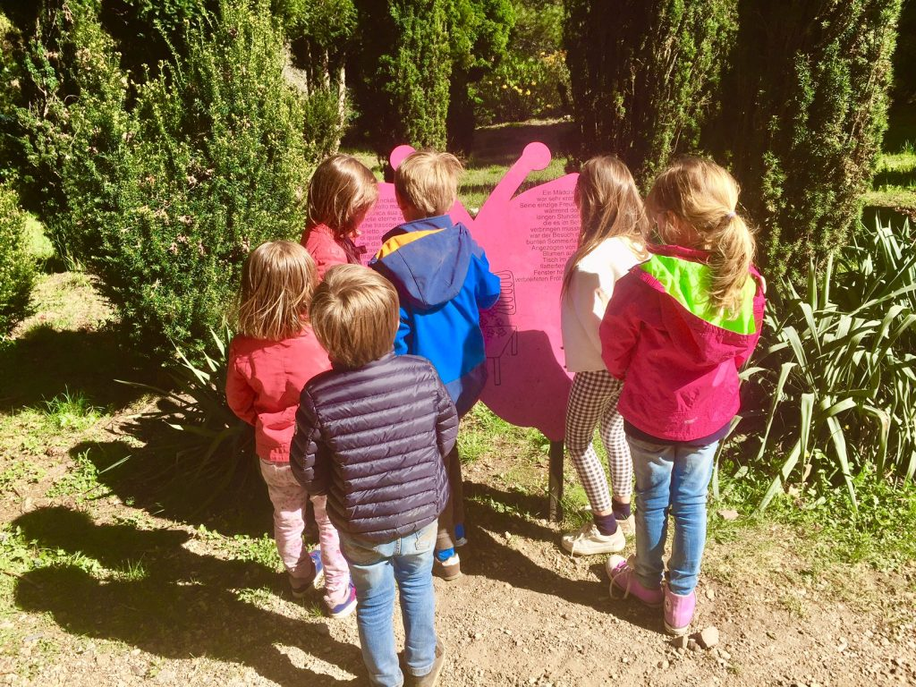 sentiero tematico nel Parco San Grato