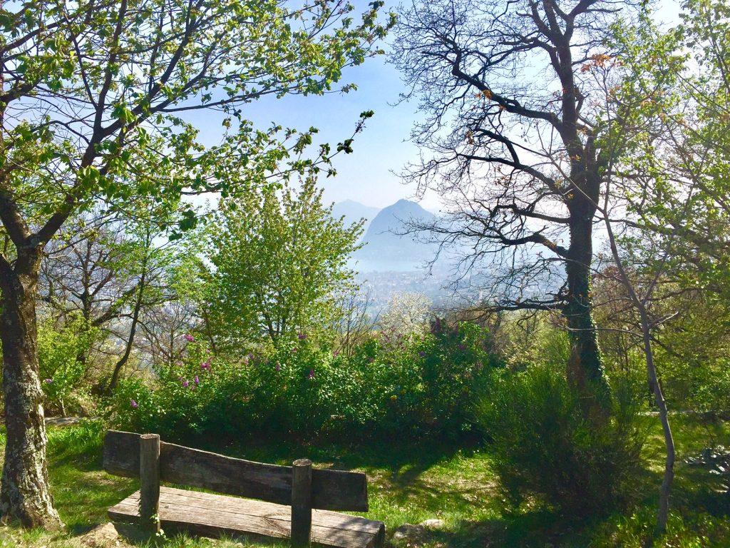 colle di San Bernardo vista su Lugano
