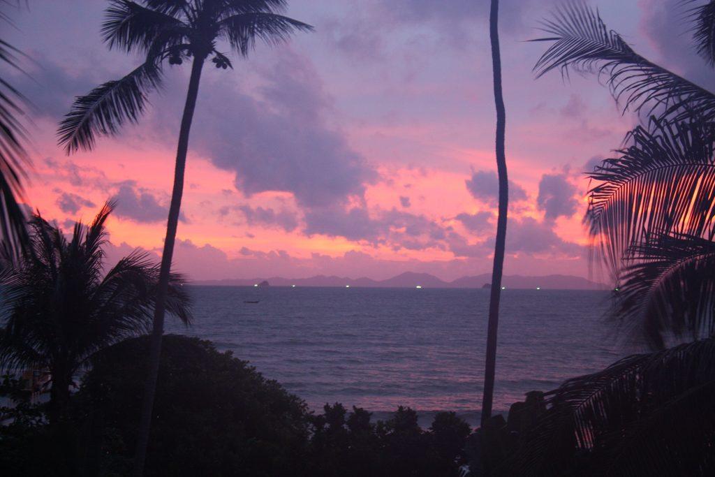 tramonto in tailandia