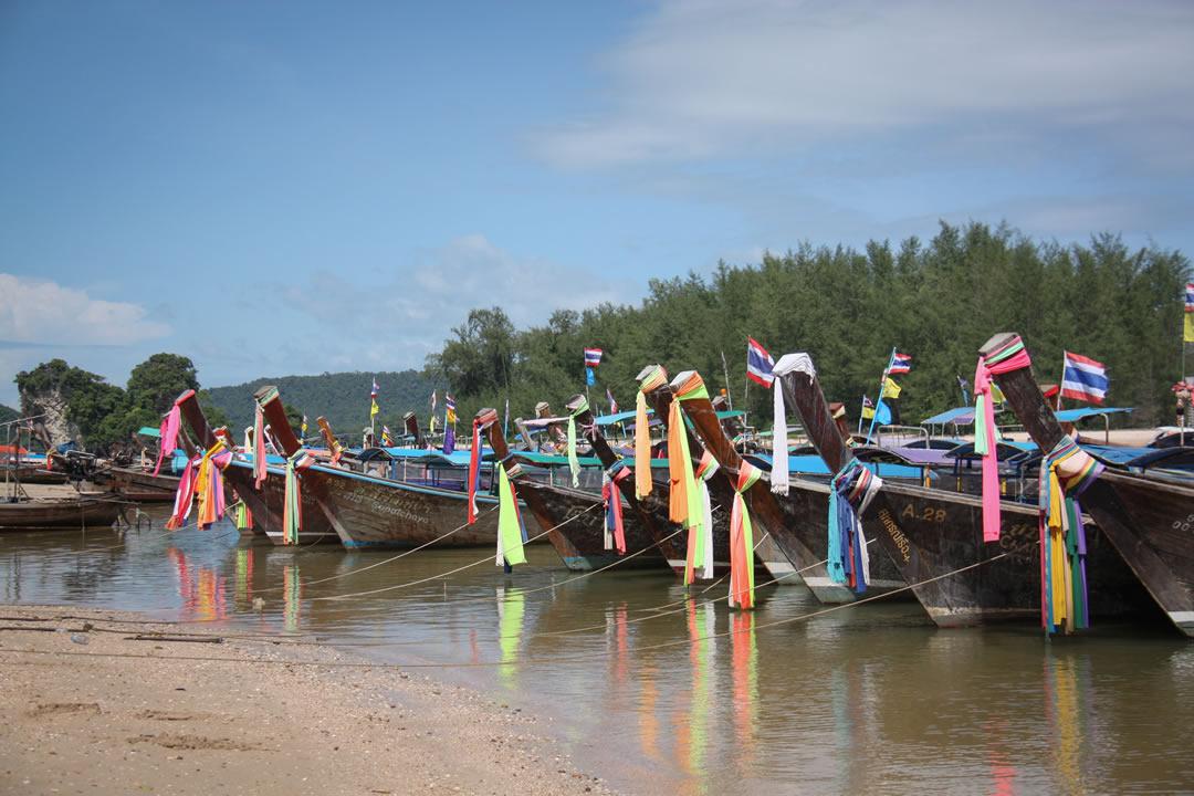 tailandia con bambini, barche a krabi