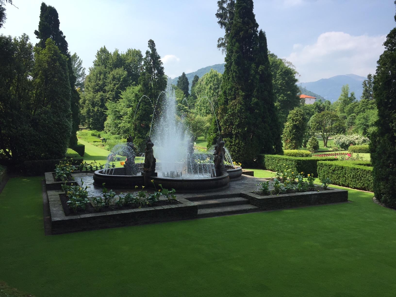 villa Taranto verbania, giardini botanici con fontana