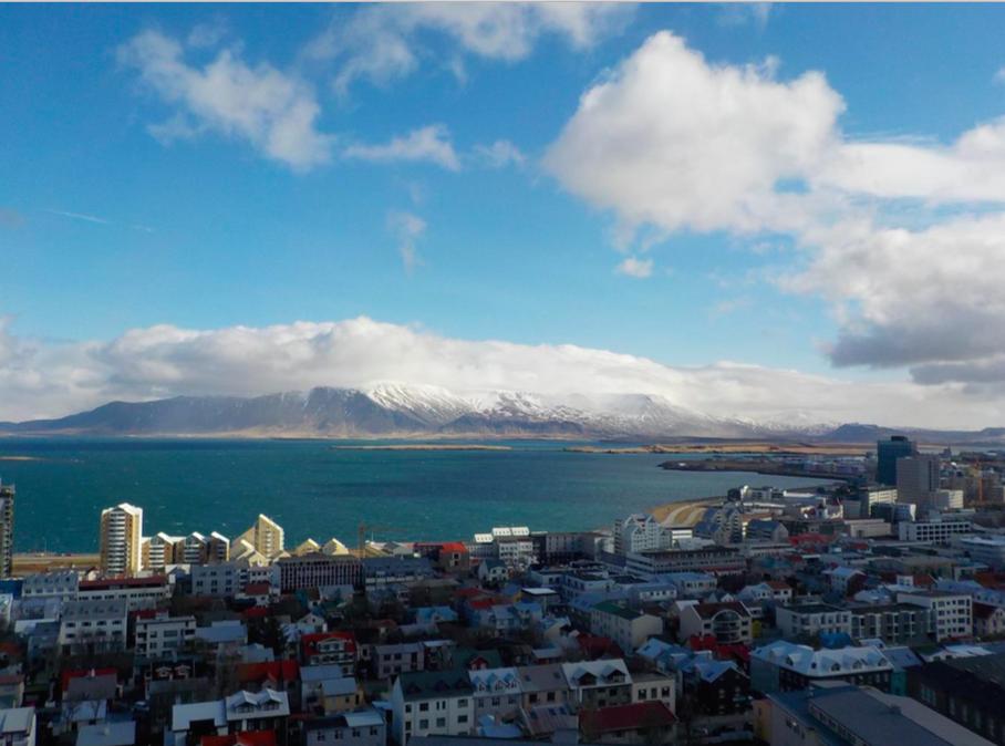 Reykjavík con bambini. Islanda. panorama