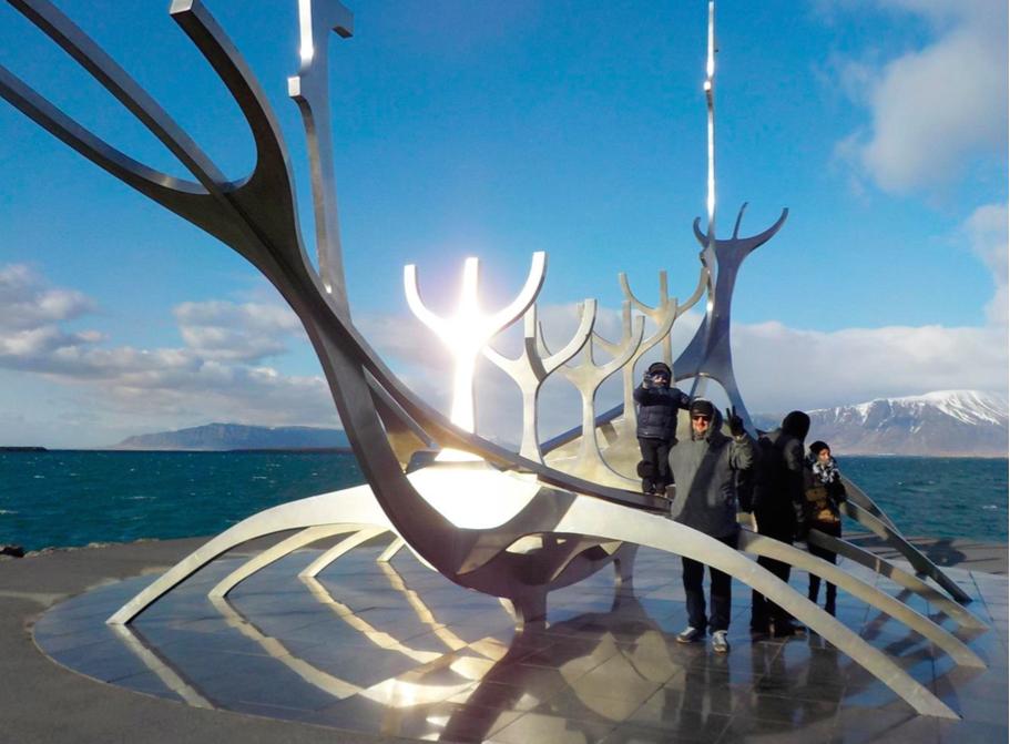 Reykjavík con bambini. Islanda. sun voyager
