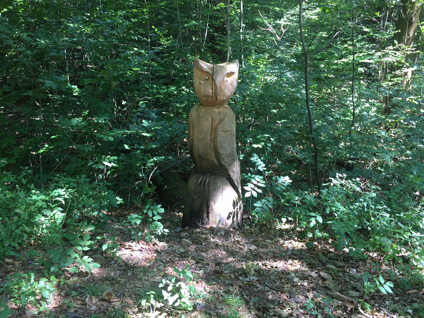 sculptures along the trail