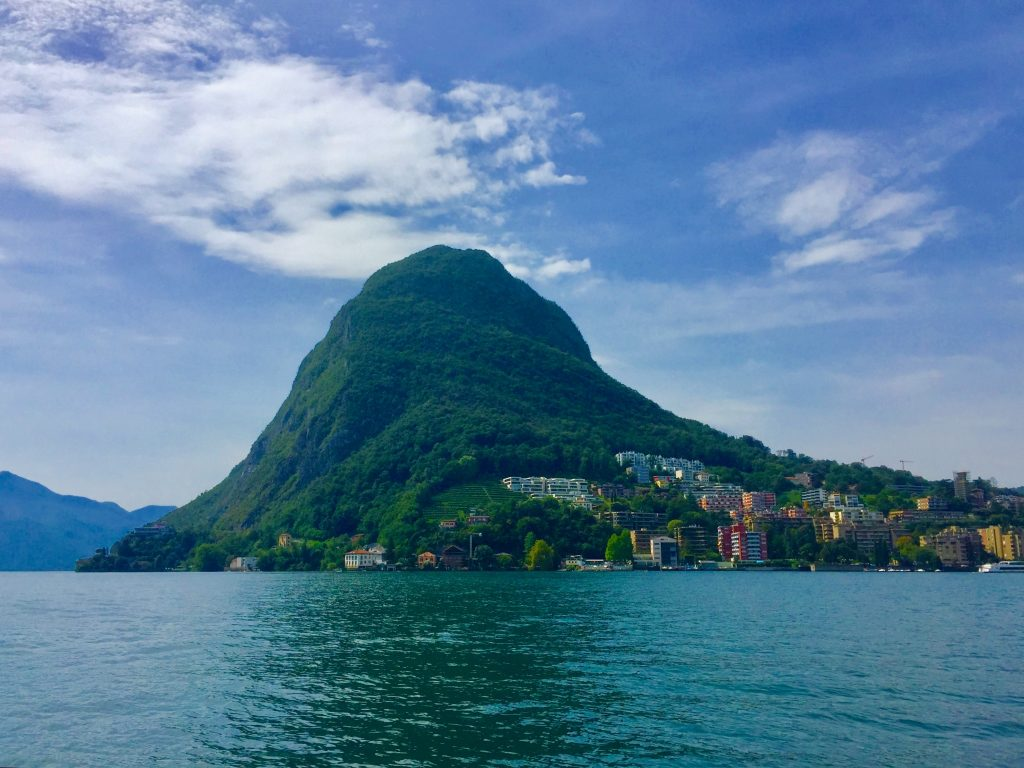 san salvatore visto da Lugano