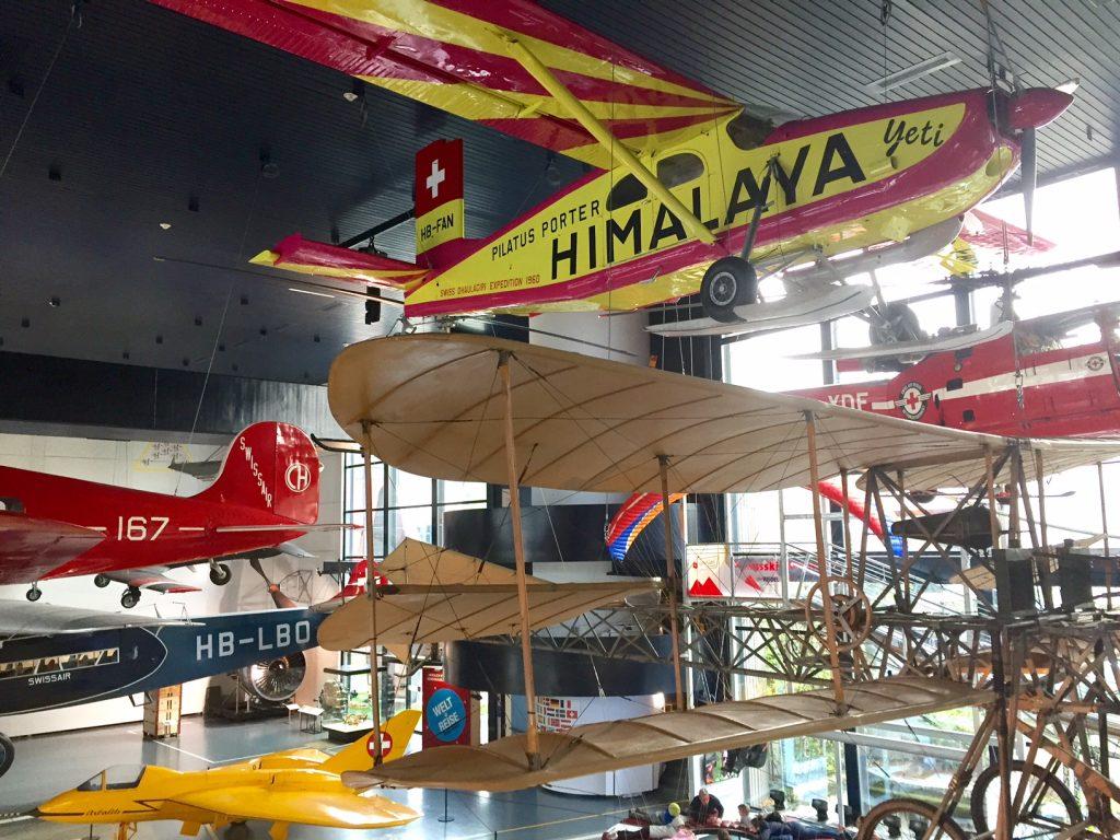 museo dei trasporti e planetario, lucerna. vecchi aerei