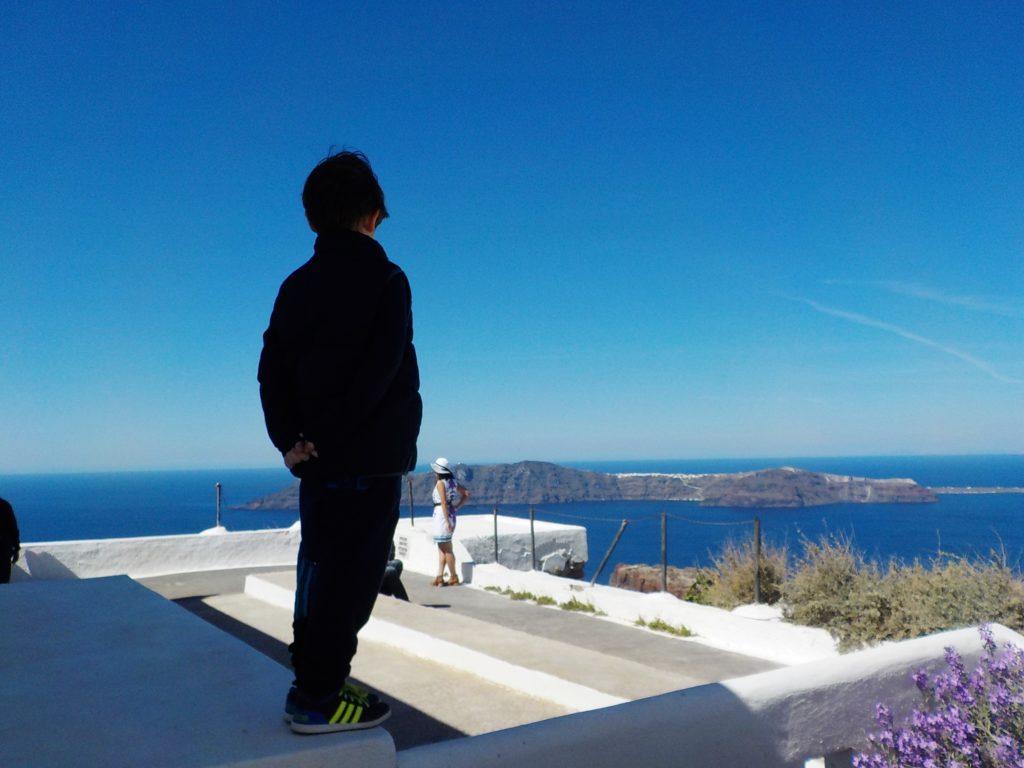 Santorini Imerovigli con bambini