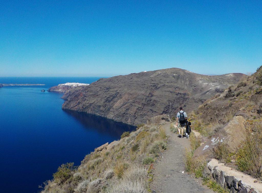 Santorini Fira-Oia hike con bambini