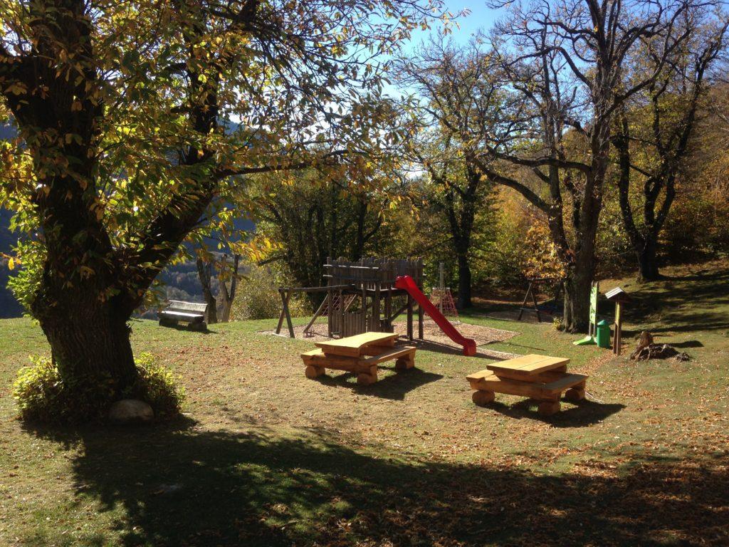 parco giochi nei monti di Sonvico