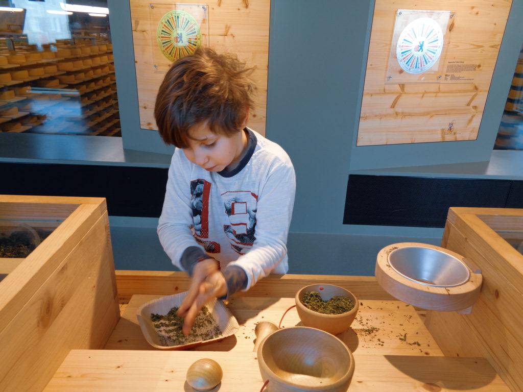 demonstration dairy stein, appenzell (switzerland).... we mortar aromatic herbs