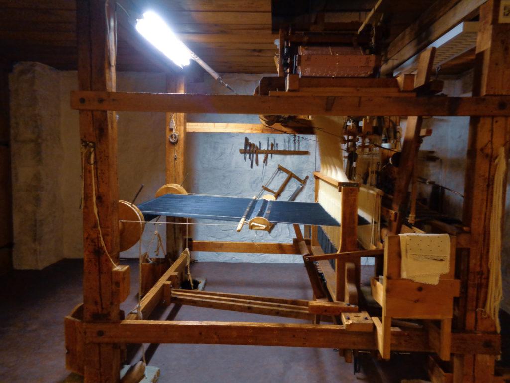 museo del folklore - stein, appenzello (svizzera)...  telaio