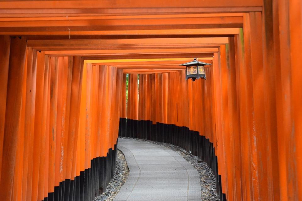 tori al fushimi inari, kyoto