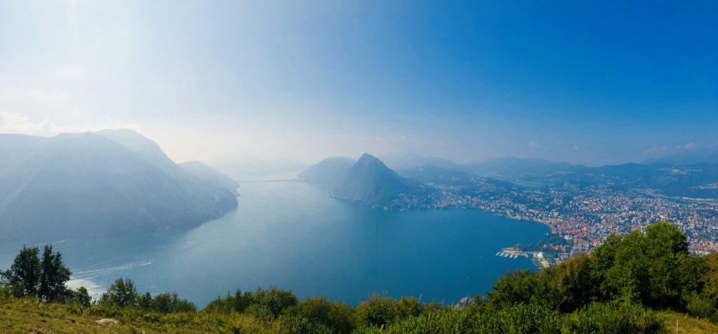 Monte Brè vista su Lugano