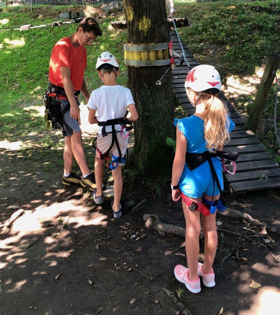 prepazione ed istruzione prima del percorso avventura