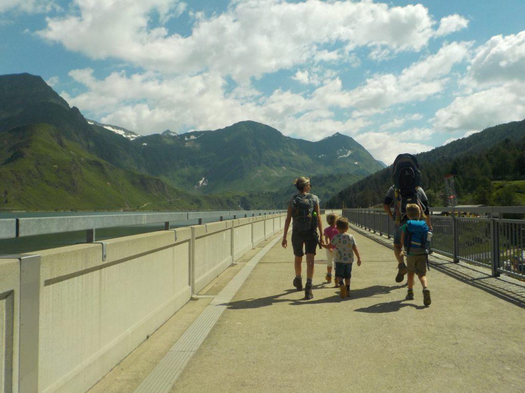l'arrivo sulla diga