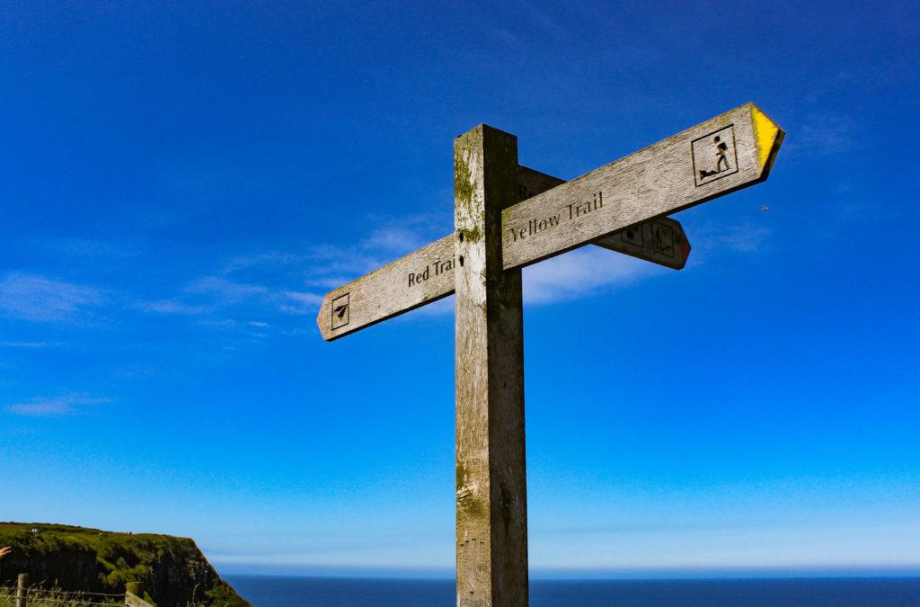 sentiero giallo, ulster way - selciato del gigante, Irlanda del Nord