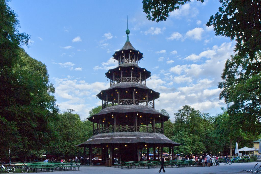 giardino inglese, la torre cinese