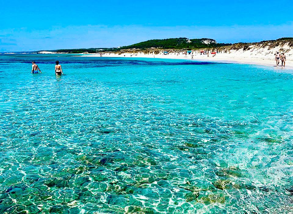 una delle più belle spiagge di Minorca per bambini