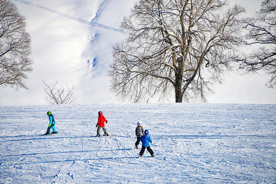 antagnod sciare con bambini