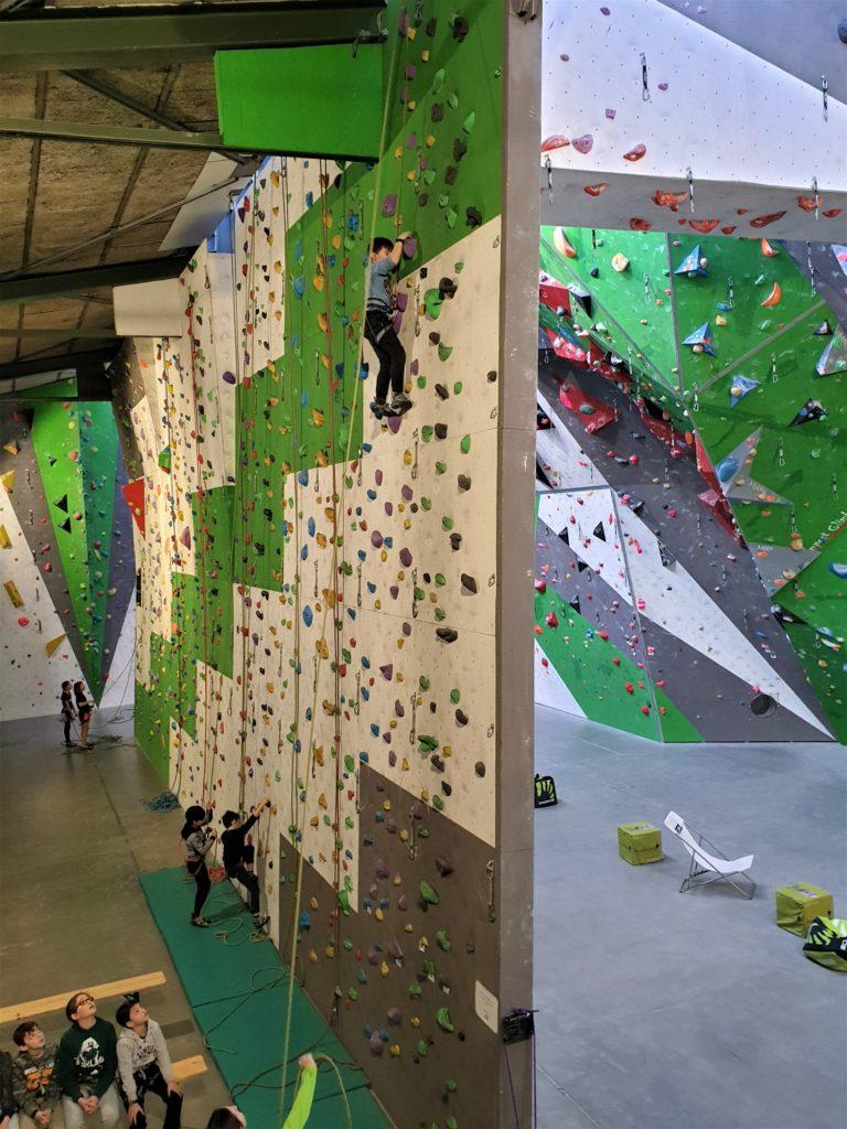 arrampicata con bambini, parete di 12 metri