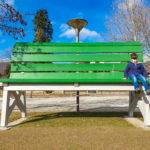 panchina gigante ciclopedonale agno caslano