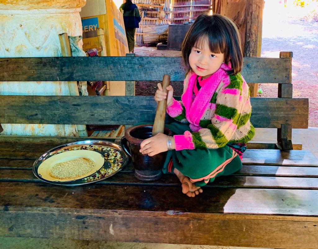 Birmania con bambini