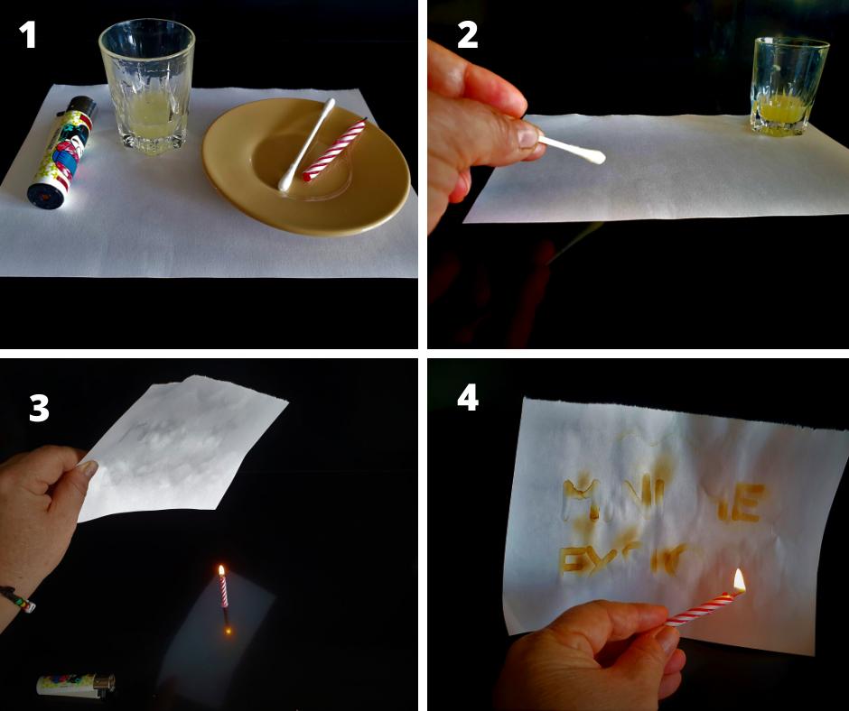 esperimenti con le candele