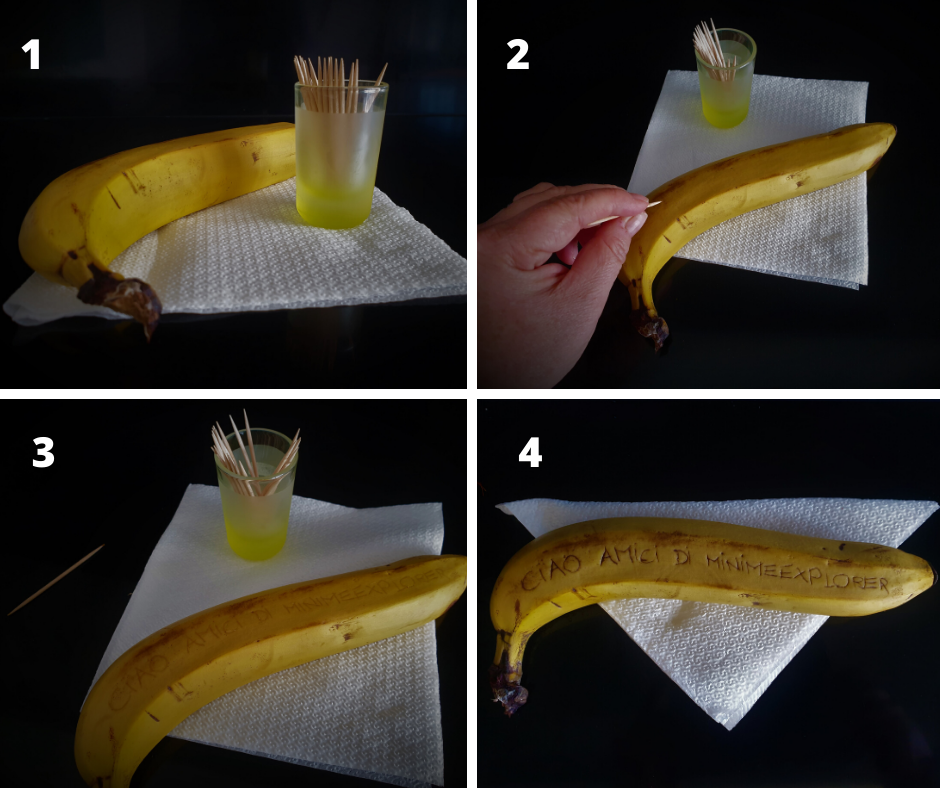 i messaggi dei bambini sulla banana