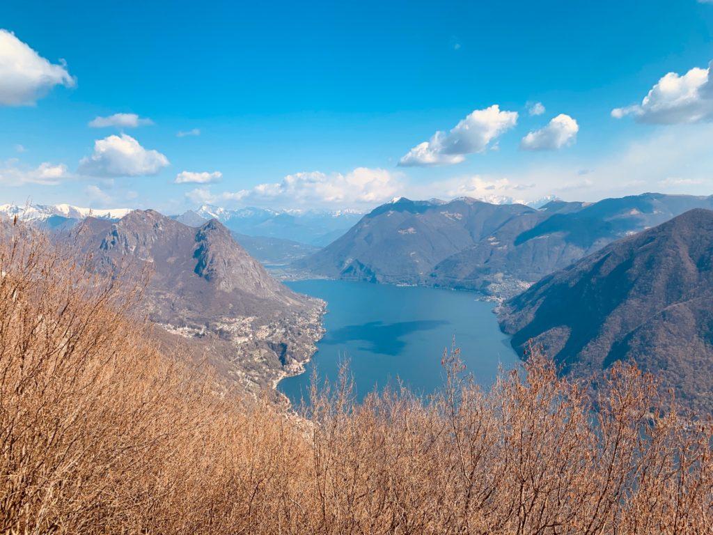 vista dal Monte Boglia sul lago di Lugano