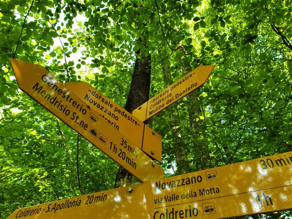 cartelli escursionistico Parco della Valle della Motta