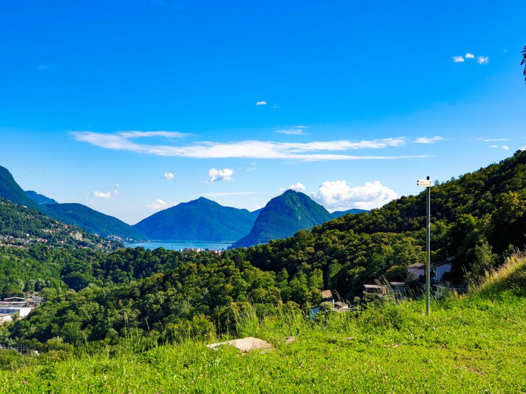 ciclopedonale canobbio tesserete, scorcio lago di Lugano