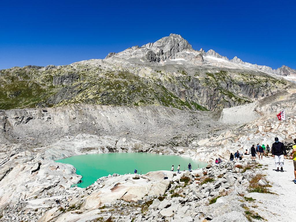 Furka: Il laghetto del ghiacciaio del Rodano