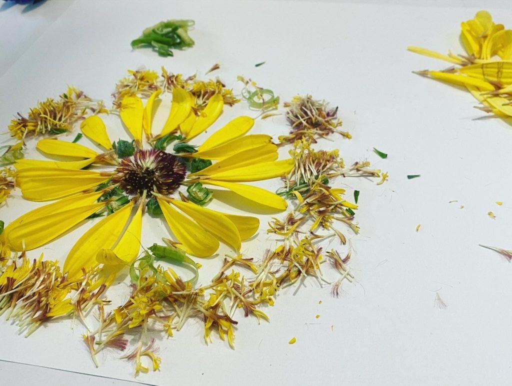 mandala con fiori