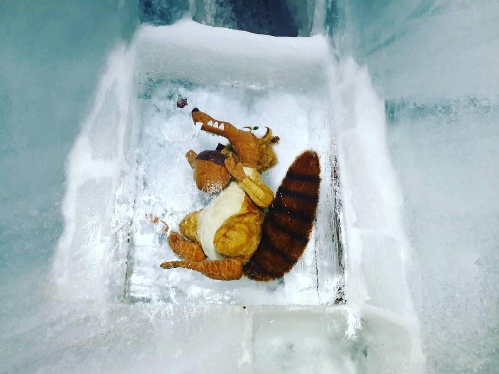 Scrat nel palazzo di ghiaccio sulla Jungfrau
