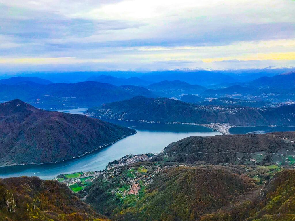 monte generoso panorama sul lago di Lugano